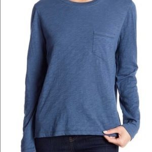 Madewell Long Sleeve Shirt Naval Blue NWT